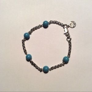 Sarah Coventry Silver and Blue Bracelet
